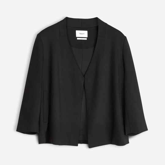 FILIPPA K OPEN FRONT JERSEY JACKET BLACK