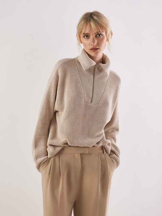 ANOTHER LABEL DARA KNITTED PULL BEIGE