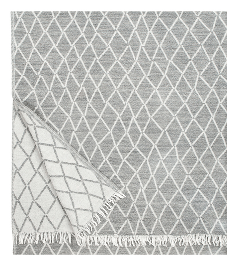 Blanket / Plaid Wool - Puikko - Grey - 140cm * 180cm - 100601