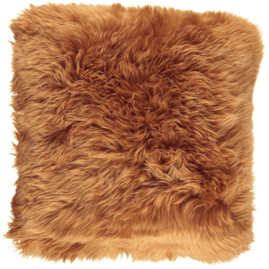 Natures Collection - Cushion - Long-Wool - Rust - 50*50 cm - NCL1056