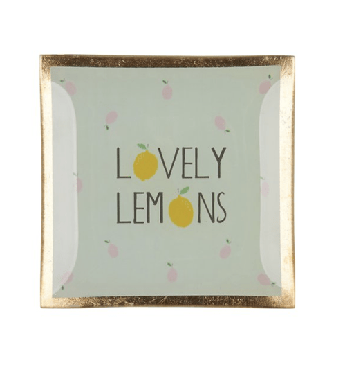 Love plates - Lovely lemons - Smal - Multicolor/Groen - 17003043