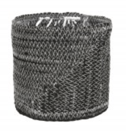 DM Depot - Basket - Collectie ARID - Black - D23-H20 cm - RIE1449ZW