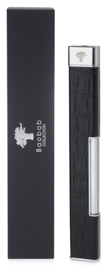 Aansteker - Lighter - Leather Croco - Black - Baobab Collection