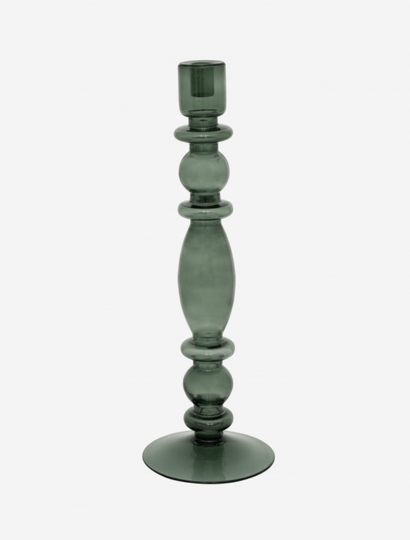 UNC - Candle holder L - Glass Aesthetic - Duck Green - 106122