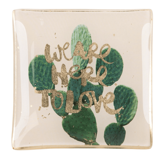 Love plates - We are here to love - Smal - Beige/Groen - 77603