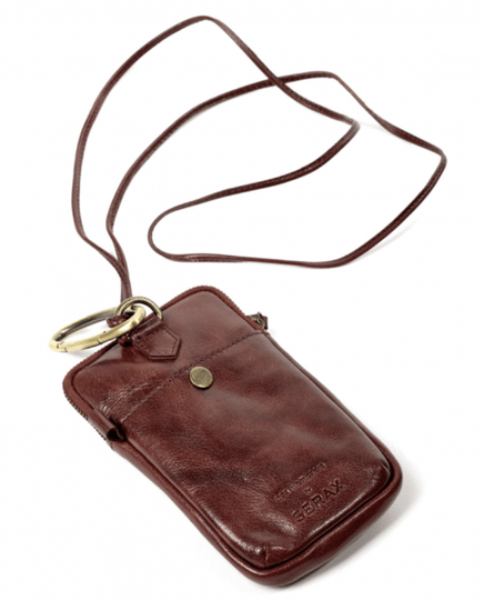 Bea Mombaers - Phone Pocket - Leather - Red - H17-L10 cm - B2918009R