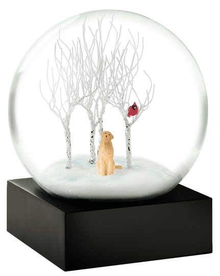 Lab in Woods - Snow Globes