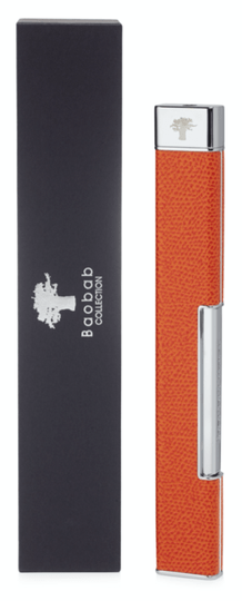 Aansteker - Lighter - Leather - Orange - Baobab Collection