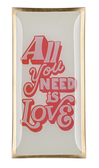 Love plates - All you need is love - Large - Wit/Roos - 1044005013
