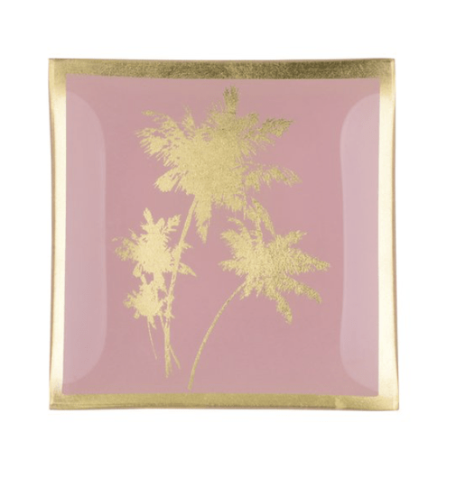 Love plates - Palm Tree - Roos/Goud - Glas - Smal - 78319