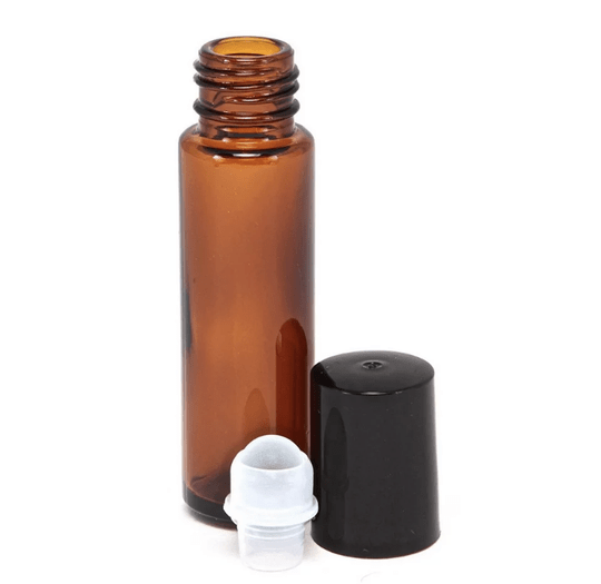 Hervulbare glas roll on met  rollerbal. 10ml