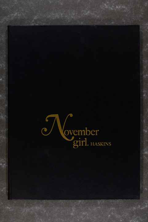 Haskins, Sam  -  November Girl. XL book! (Rare!) (First edition!)
