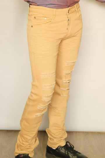 Beige stretch jeans