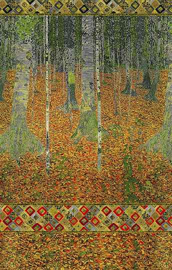 Art Gustav Klimt metallic - SRKM-18655-191 AUTUMN panel 60x110 cm