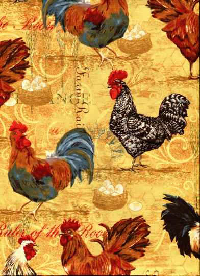Animals rooster collage