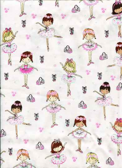 Babies and children Ballet on rose with glitter
