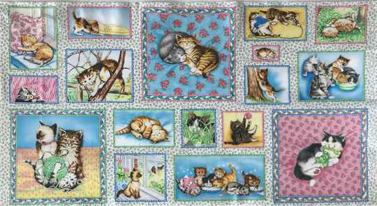 Cats and dogs panel puppy cats 60 x 110 cm