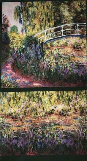 Art Robert Kaufman Monet Panel 60x110cm