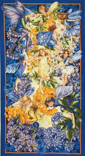 Flower Fairy dawn till dusk Panel 60x110cm