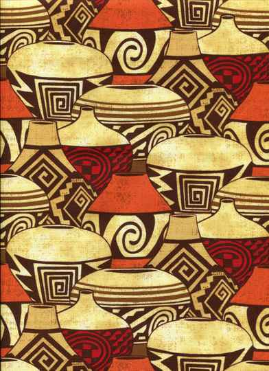 Countries African pottery with orange