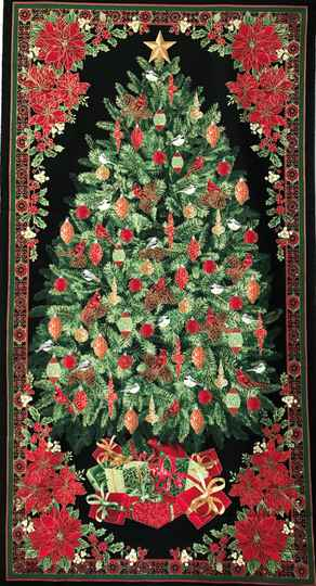 Christmas christmas tree with metallic Panel 60x110cm