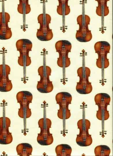Music violins all over