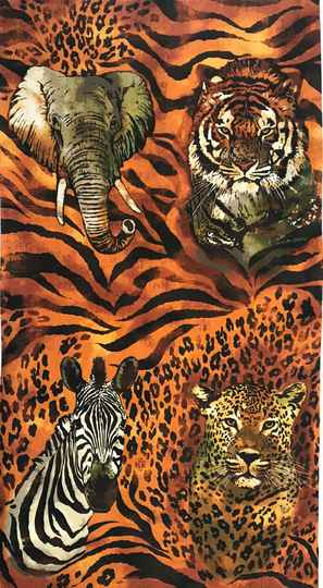 Animals wild animals 2  Panel 60x110cm