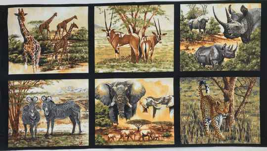Animals wild life Rhino Panel 60x110cm