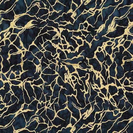 Batiks Sea water batik metallic - BTM8514-MIDN-D
