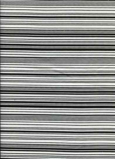 Black and white bla 1 long quarter 23x110cm