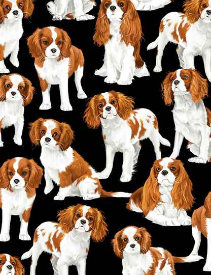Cats and dogs King Charles Spaniel-GM-C7366-Black