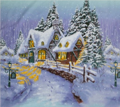 Christmas Snow Chateau - CJ3591-WINT-D Panel 55x60 cm