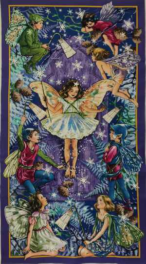 Flower Fairy enchanted fairy DC7051 Panel 60x110cm