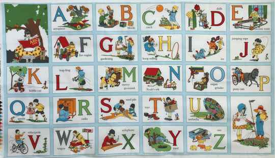 Babies and children  my ABC-book 60 x 110 cm