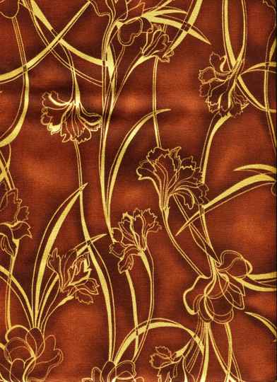 Flowers Golden flowers on brown
