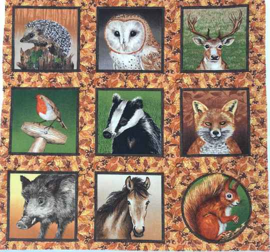 Animal labels on brown 1