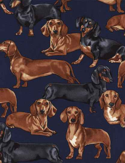 Cats and dogs Dachshund-GM-C3190-Navy