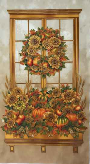Flowers autumn bouquet Panel 60x110cm