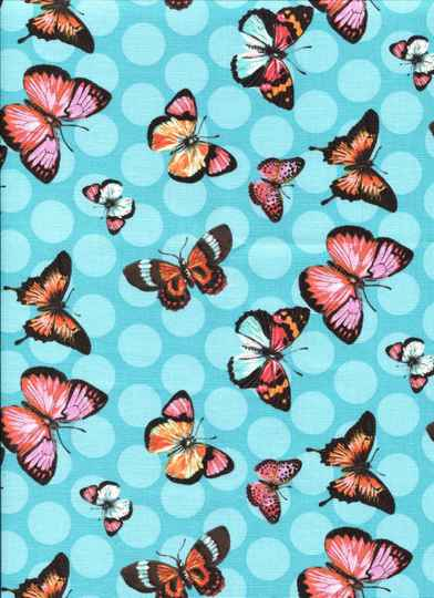 Insects butterflies on turq