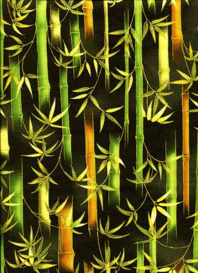 Nature Bamboo with gold on black