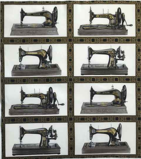 Sewing machines  with metallic Panel 55x60cm