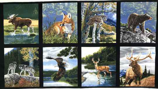 Animals Northern wild life 1 Panel 60x110cm
