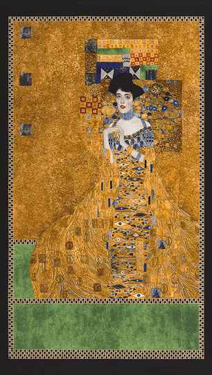 Art Gustav Klimt metallic - SRKM-17179-133 GOLD panel 60x110 cm