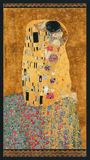 Art Gustav Klimt metallic - SRKM-17178-133 GOLD panel 60x110 cm