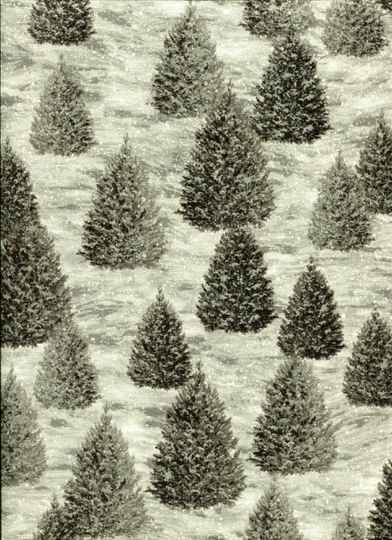 Christmas christmas trees with silver glitter