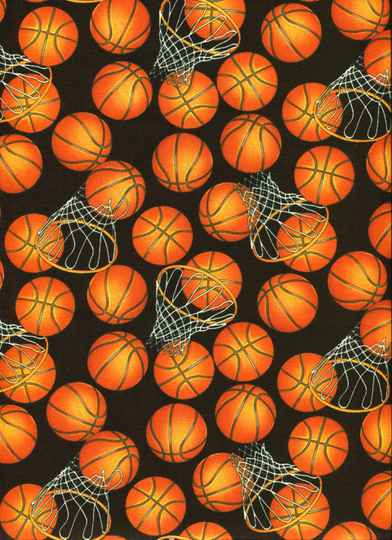 Sports and games Basket ball on black