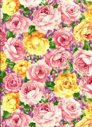 Flowers Yellow and rosy all over