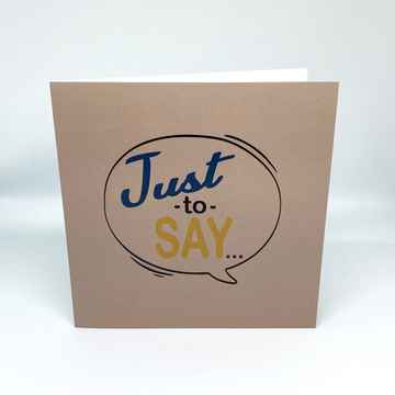Press: Just to Say