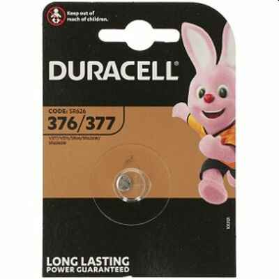 376/377 - Duracell - Knoopcel 1,5V - Silver Oxide