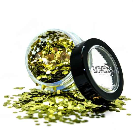 Holographic Chunky Glitter Biodegradable Gold Dust 6 ml